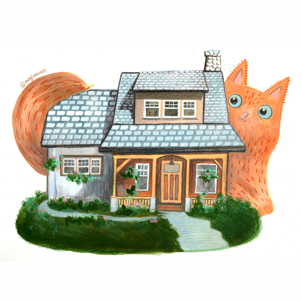 Dream house & the Giant Cat