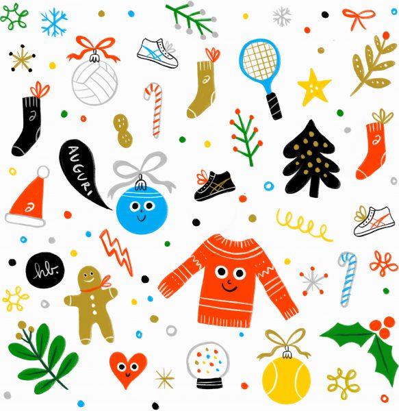 ASICS Christmas Sporty Patter