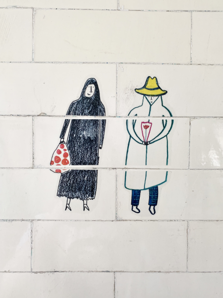 Bathroom story tiles