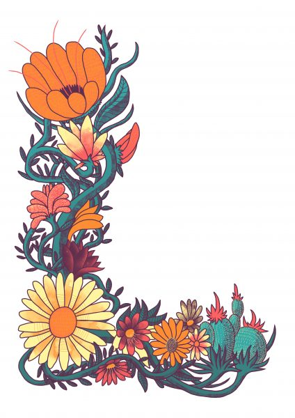 L Of flowers
