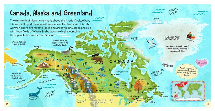 Canada - Alaska Map