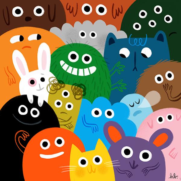 A happy bunch