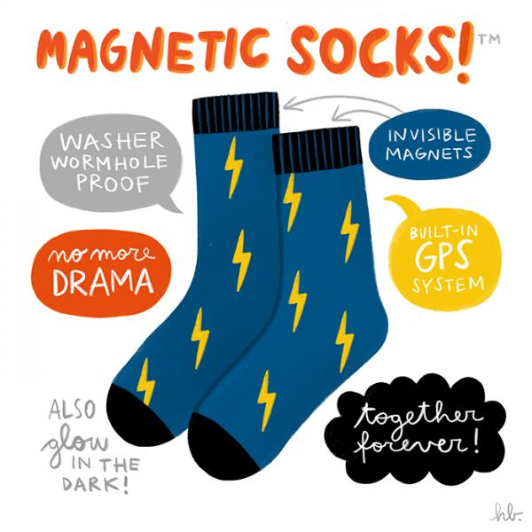 Magnetic Socks!