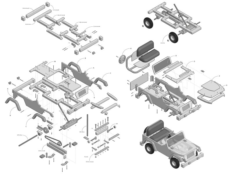 Jeep blueprints