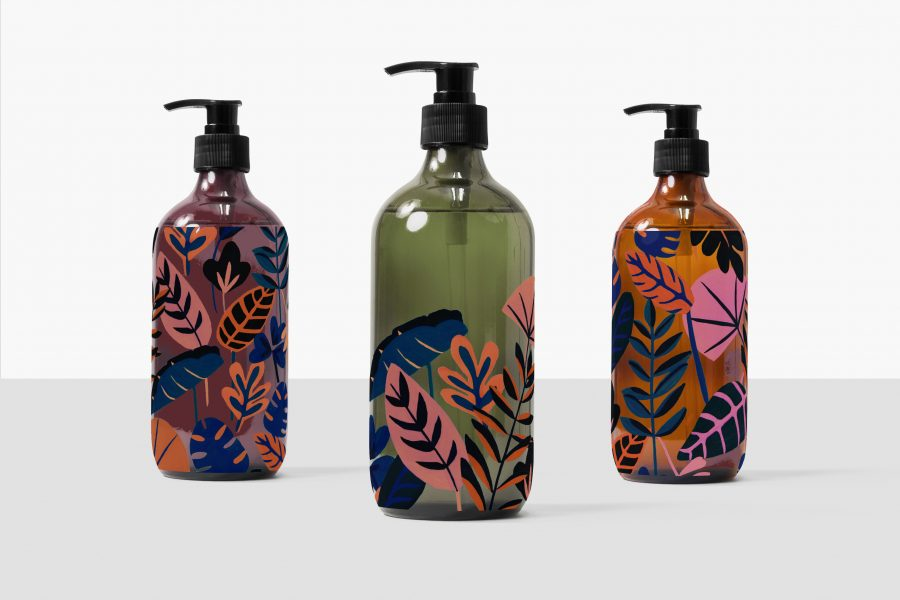 Azure Botanical Packaging