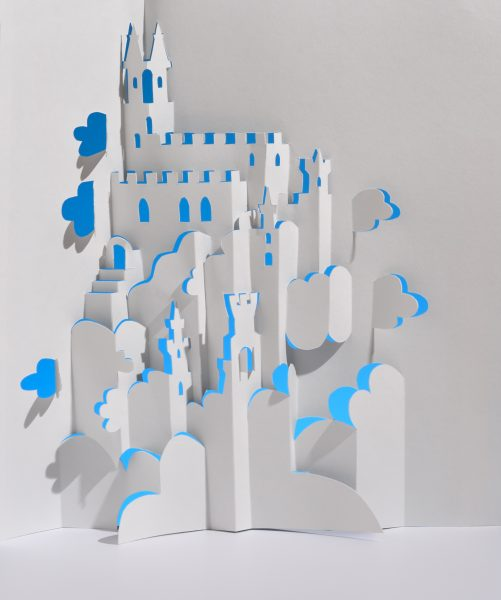 Castle in the Clouds Kirigami