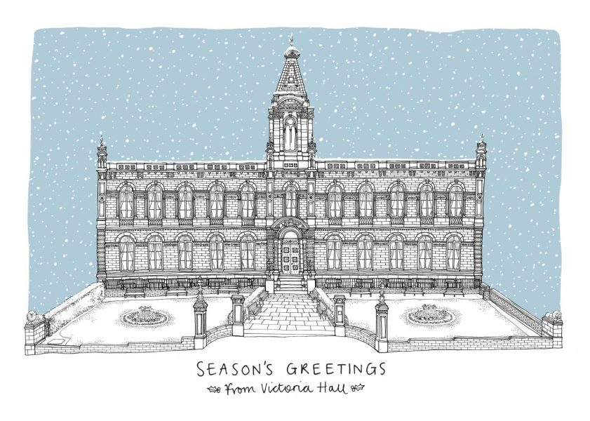 Corporate Christmas card for Victoria Hall, Saltaire