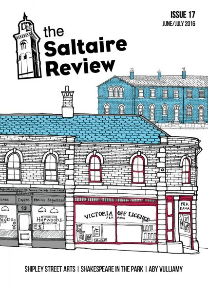 Cover design for the Saltaire Review