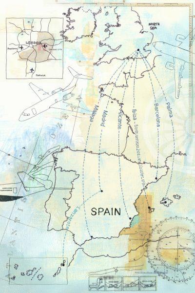 Flight Route Map Spain