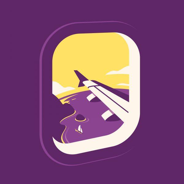 holiday aeroplane window