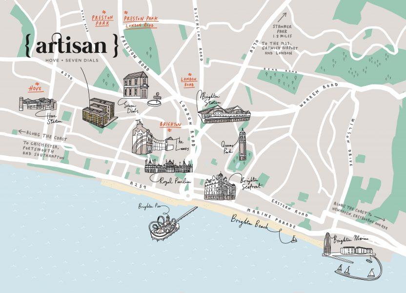 Hove Artisan Apartments Map