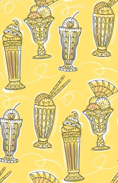 Ice Cream Sundae Pattern