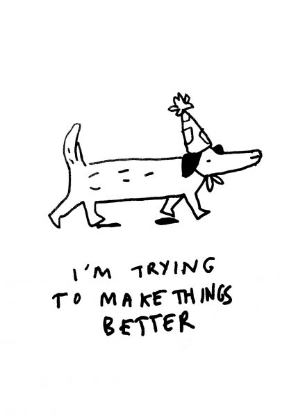 Inspirational Party Dog