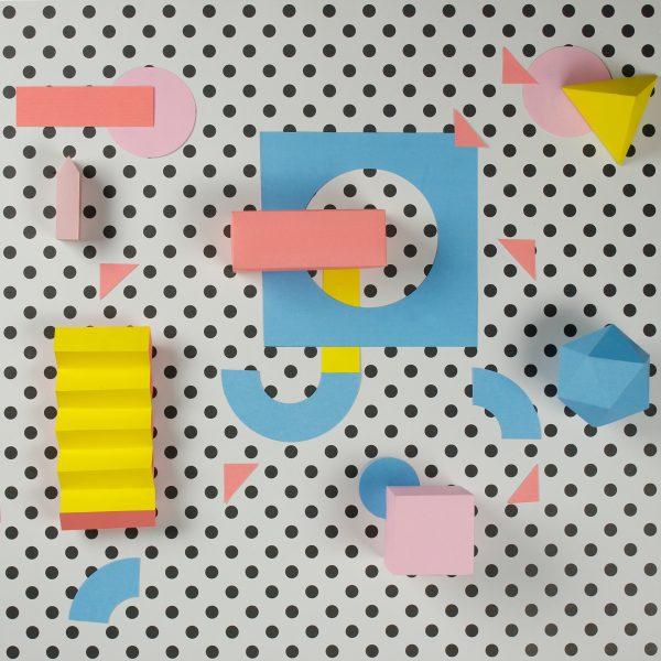 J - Colorful Papercraft Alphabet