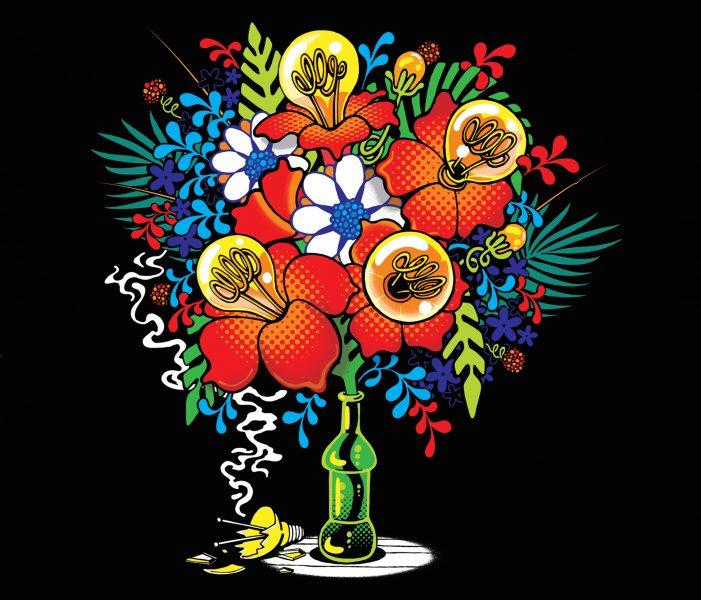 Lightbulb Flowers