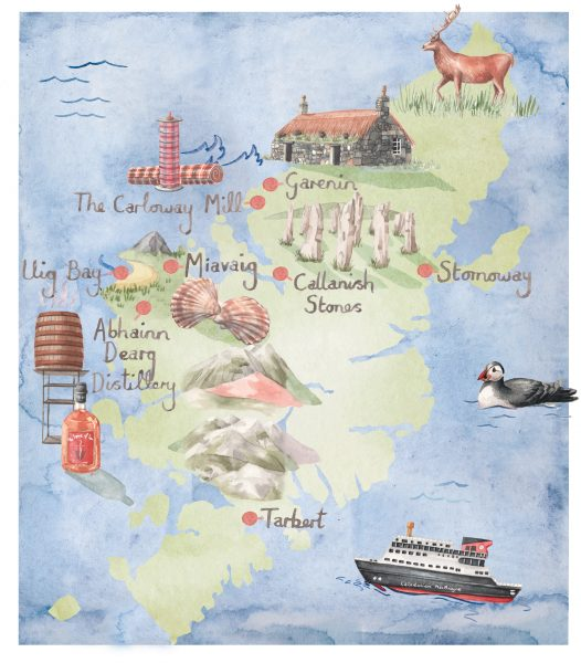 Map of Lewis and Harris for Britain Magazine