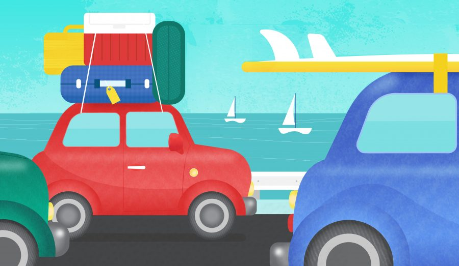 Waze, Memorial Day Editorial Illustration
