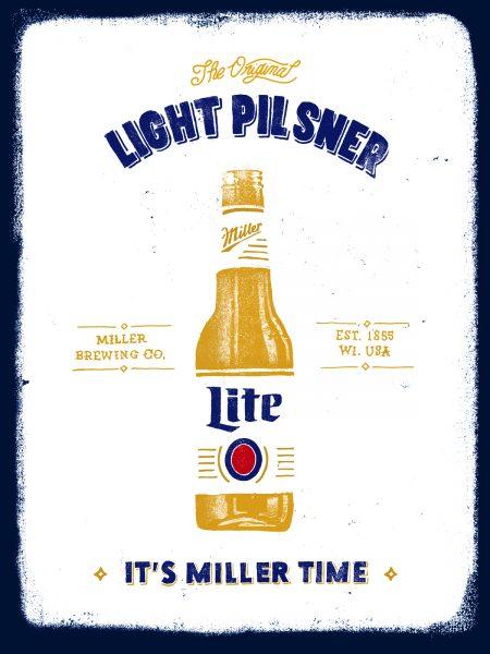 Miller Lite Equity Poster