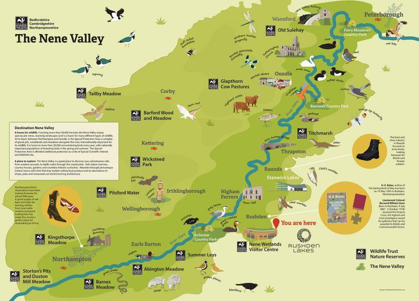 Nene Valley Wall Map