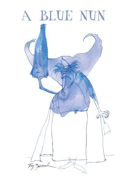 a blue nun