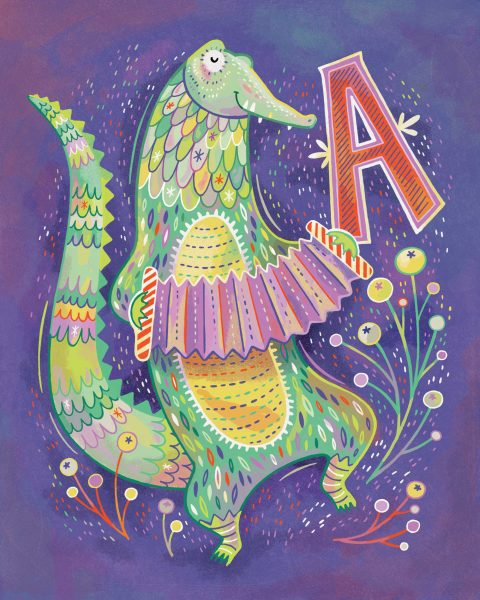 A is for Alligator with Accordion