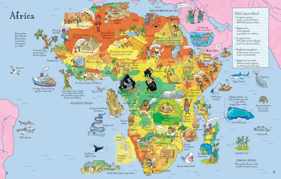 Africa from 'Lift The Flap Picture Atlas'