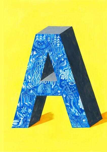 Alphabet Design Series Letter A