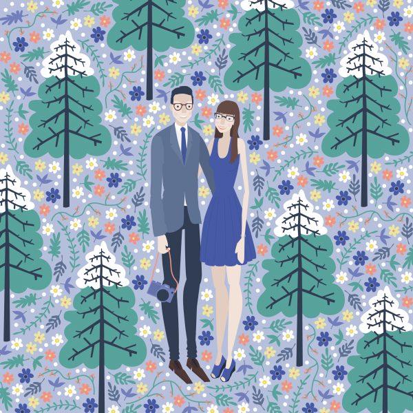 Couple Portrait Illustration