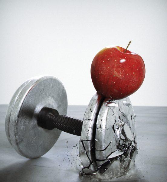 Apple Dumbell Mens Fitness Magazine