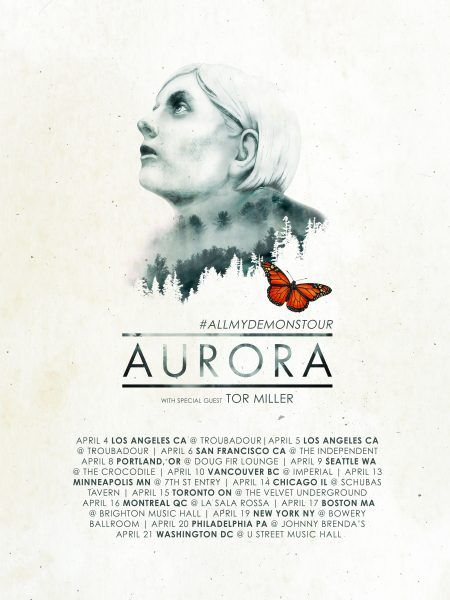 AURORA All My Demons Tour Poster