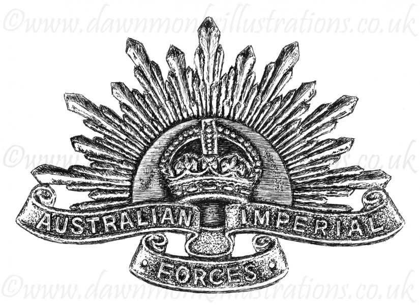 Australian Imperial Forces First World War Headstone Insignia