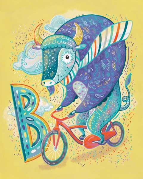 B is for Bison on Bicycle