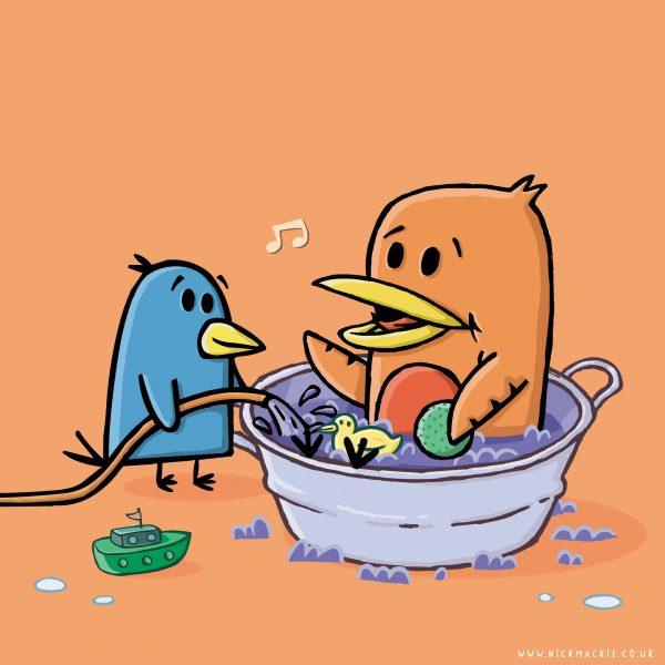 Bathtime Birds