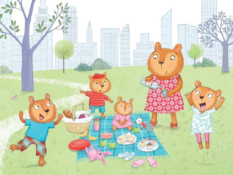 Bears picnic in the park