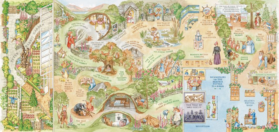 Beatrix Potter illustrated map