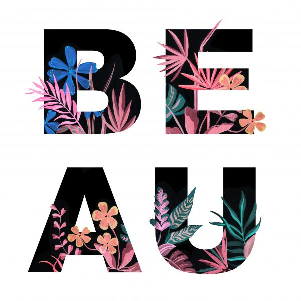 Beau Floral Typography