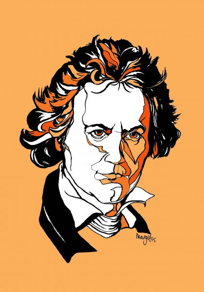 Beethoven | pen/ink/digital