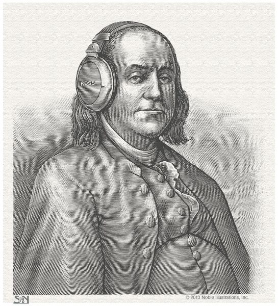 Ben Franklin Portrait for Koss Headphones