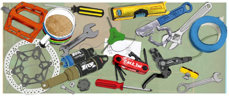 bicycle repair illustration
