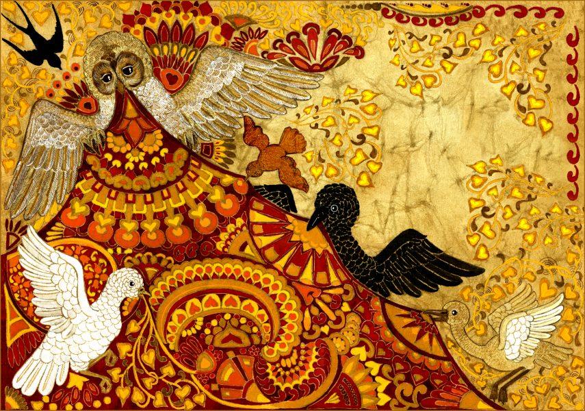 Birds Stealing the Nobleman's Cloak
