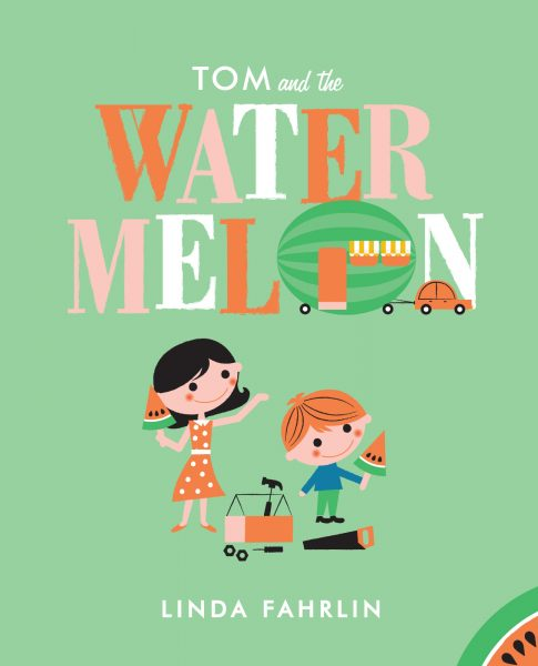Book cover illustration for Tom and the Watermelon