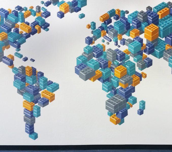 Brick World Mural