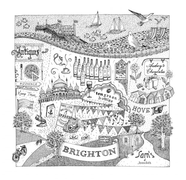 Brighton Illustration for Jamie Oliver's Magazine
