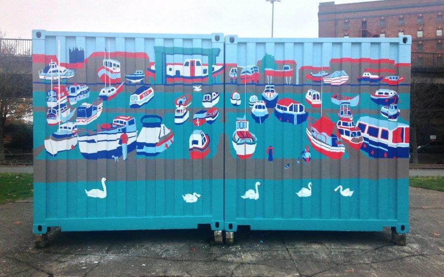Bristol Marina Mural