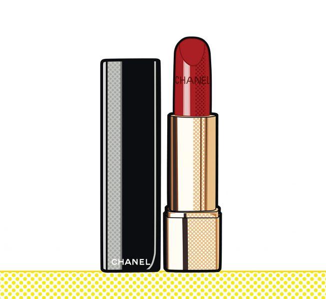 Chanel lipstick popart graphic