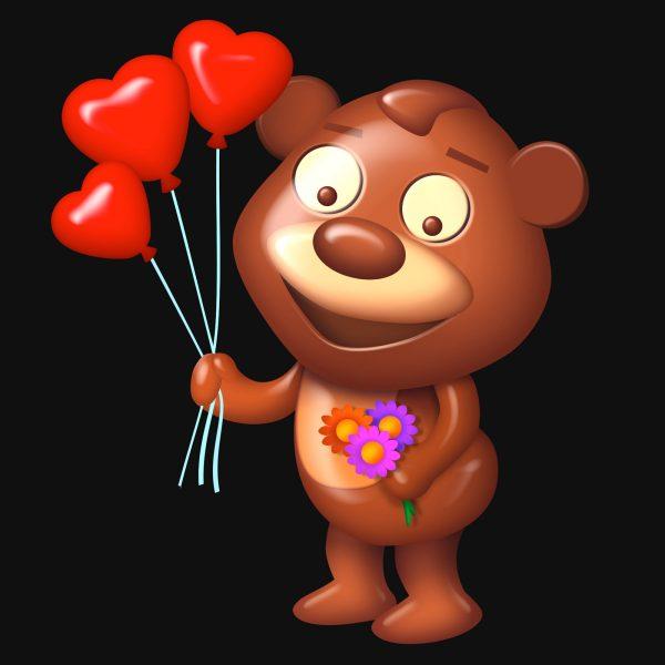 Chocolate Valentine Bear