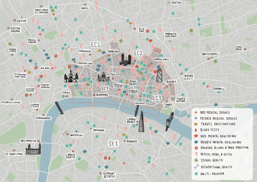 City Of London Healthcare Map