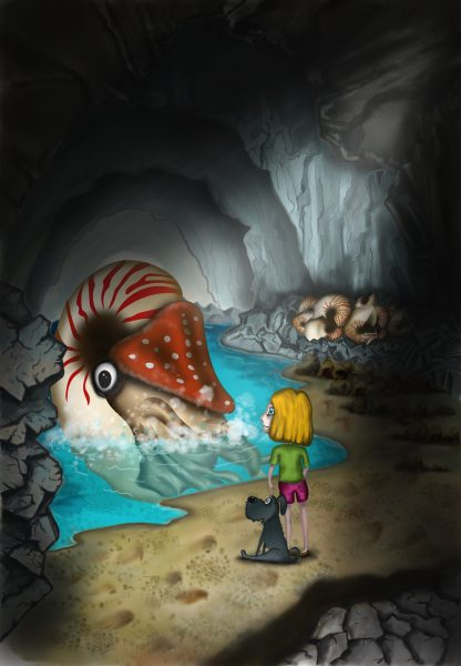 Creatures of the Loch - The cave and the Nautilus
