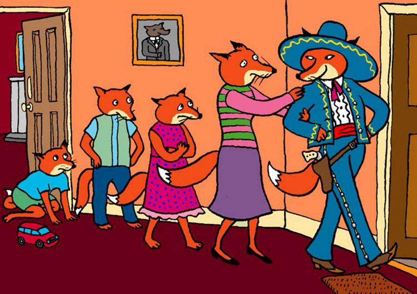 Cube the Fox, story illustration