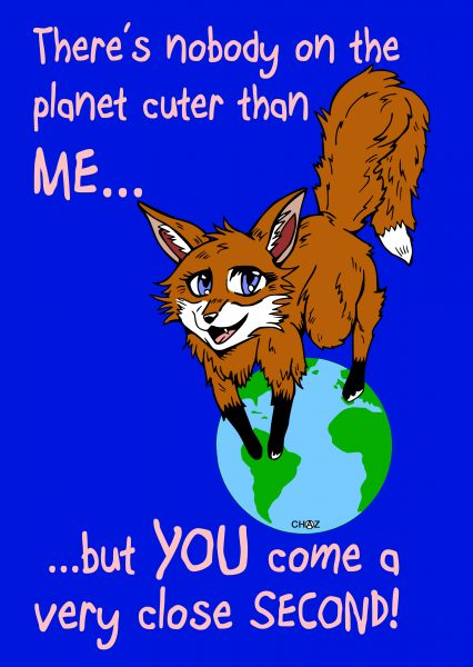 Cute Fox Greetings Card Design